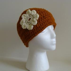 Crochet Head Warmer Rust Orange and..
